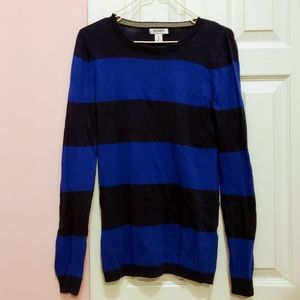Old Navy Sweaters - Old Navy Women's Striped Sweater with Elbow Patch